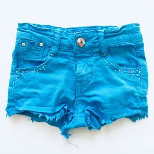 Hansez Blue Cut-Off Jean Shorts